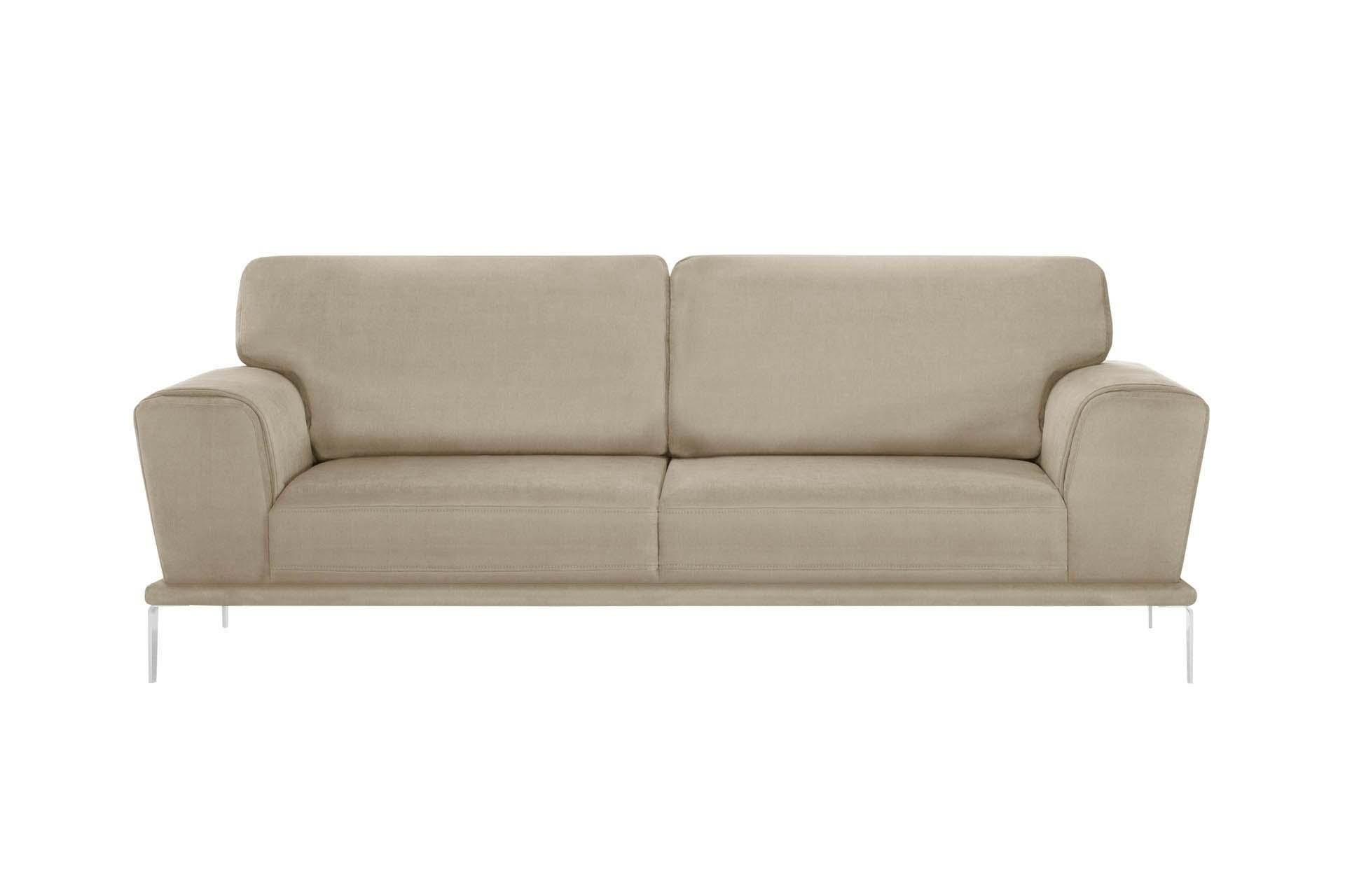 Canapé 3 places toucher coton beige