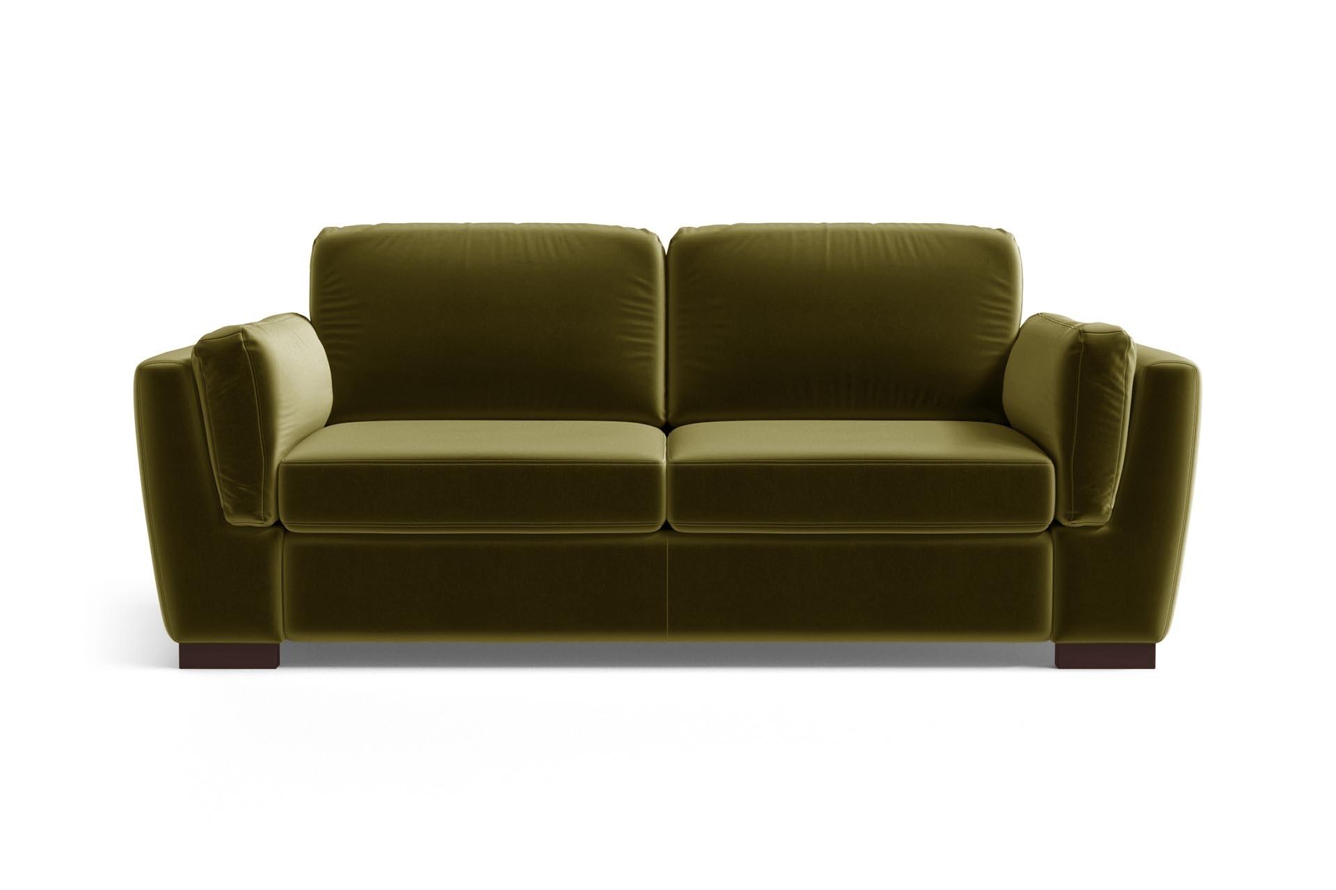 Canapé 2 places en velours vert