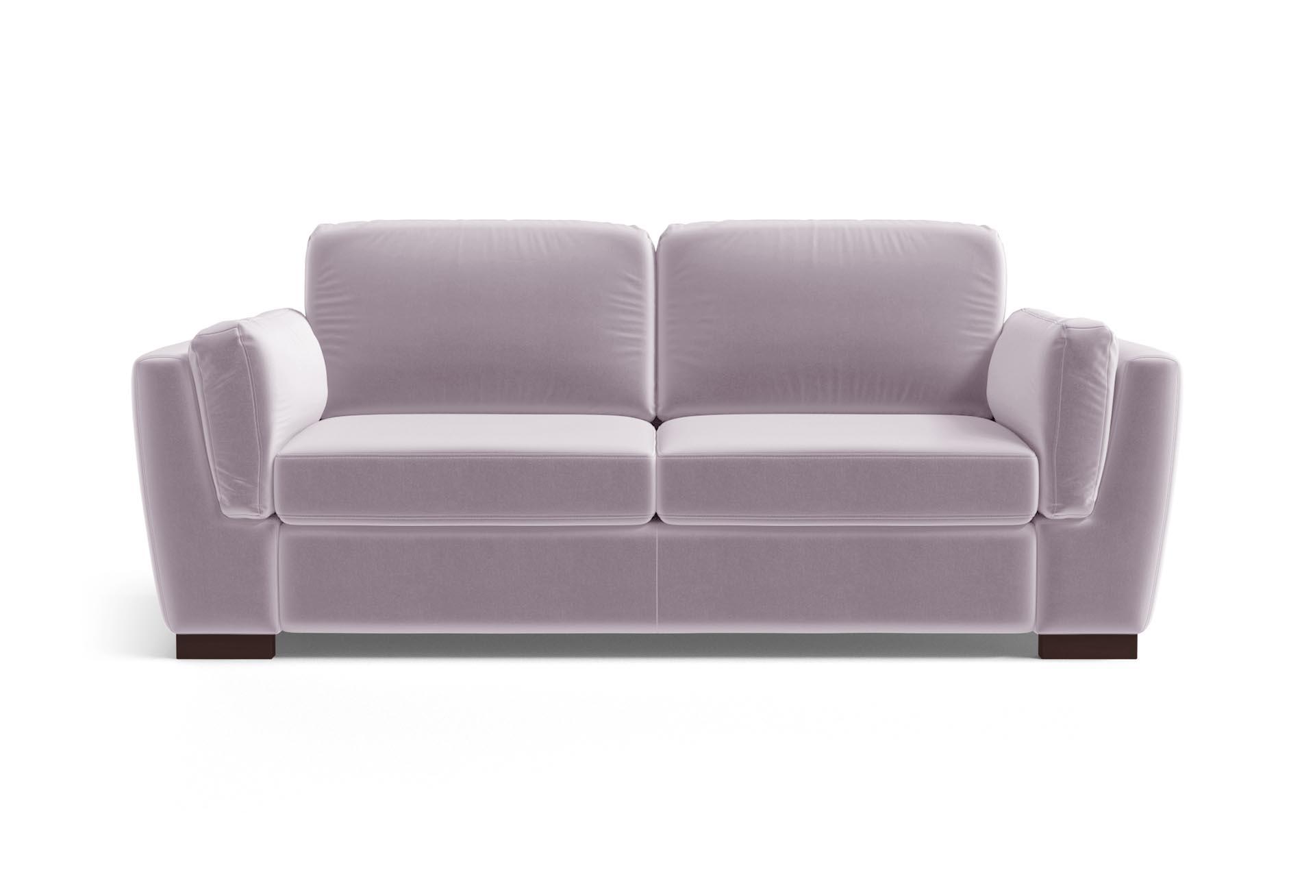 Canapé 2 places en velours lilas