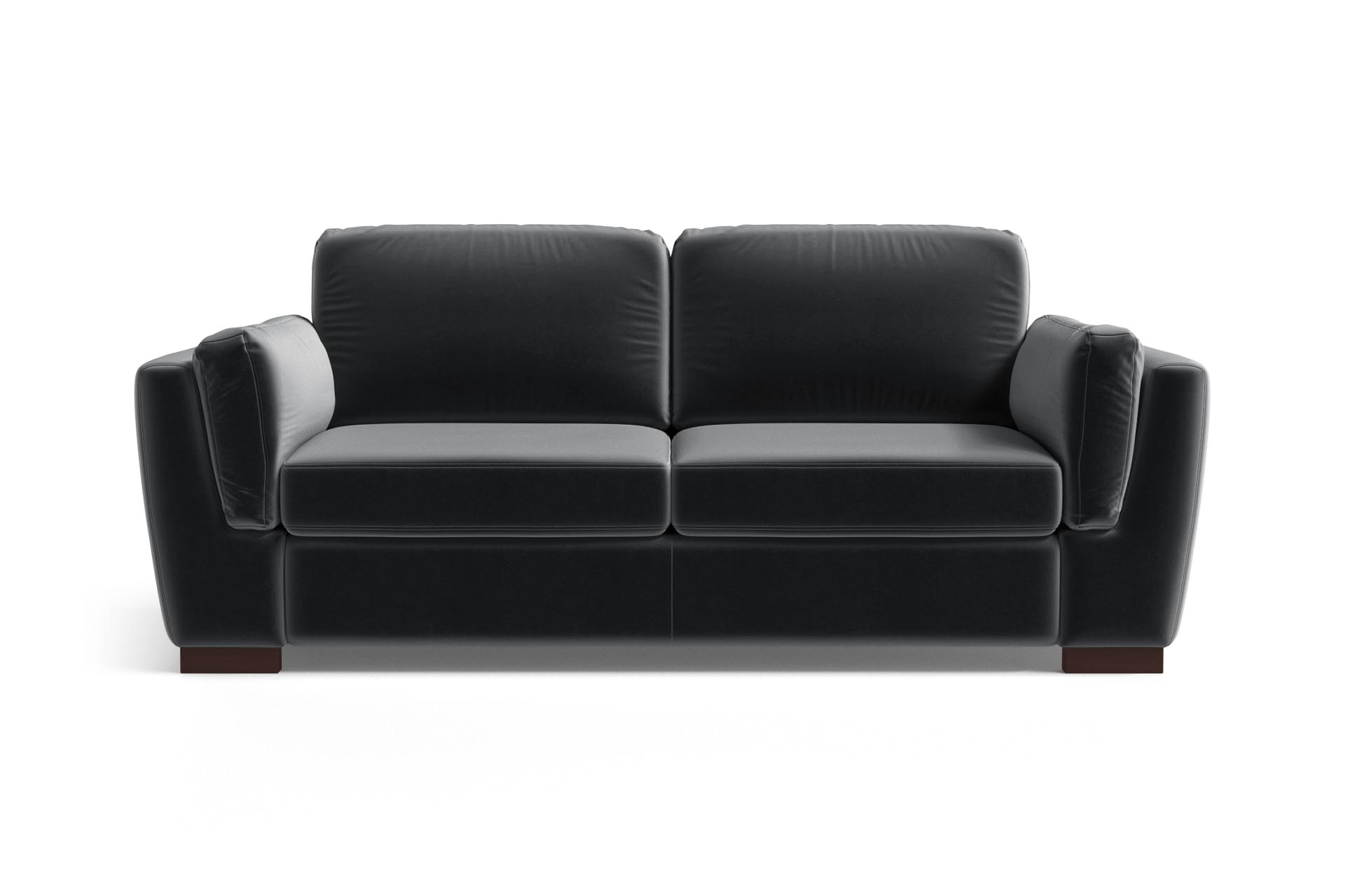 Canapé 2 places en velours anthracite