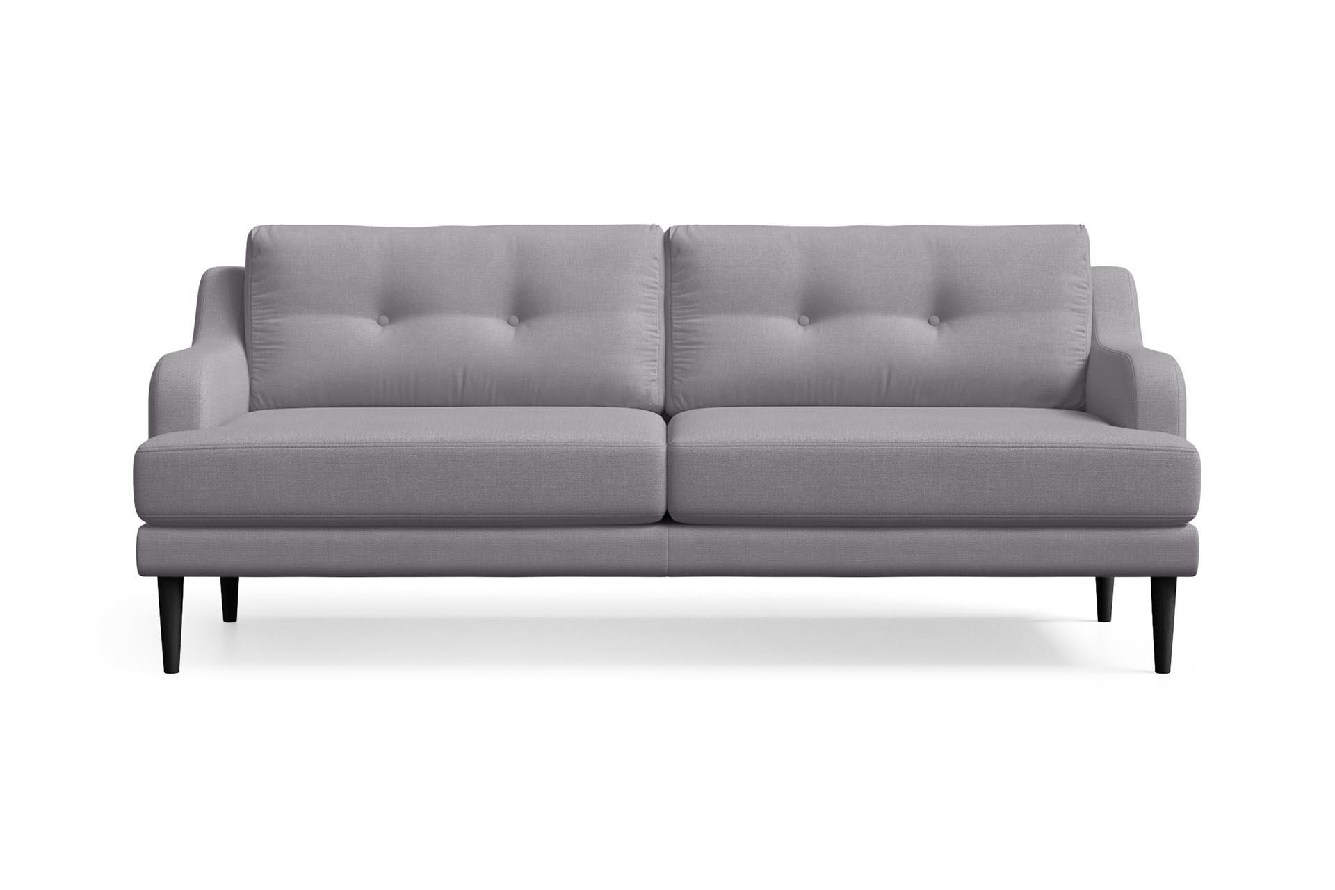 Canapé 3 places toucher lin gris