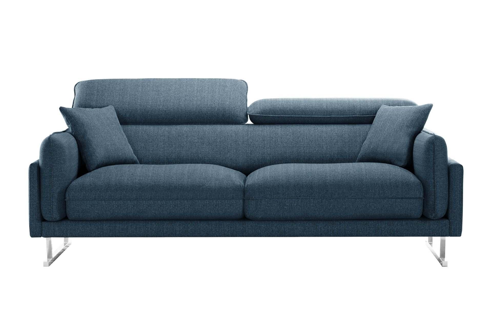 Canapé 3 places toucher lin jeans