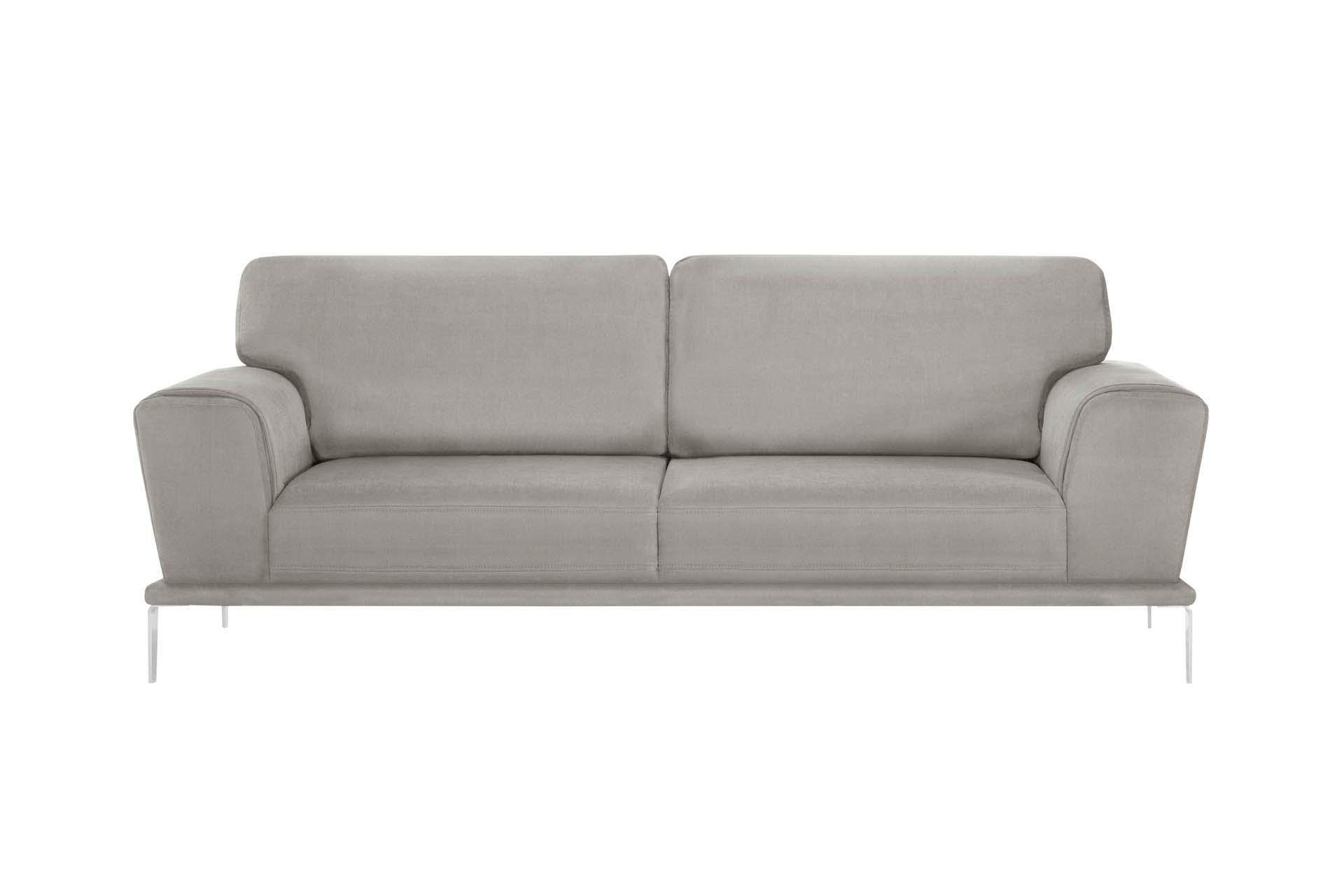 Canapé 3 places toucher coton gris clair
