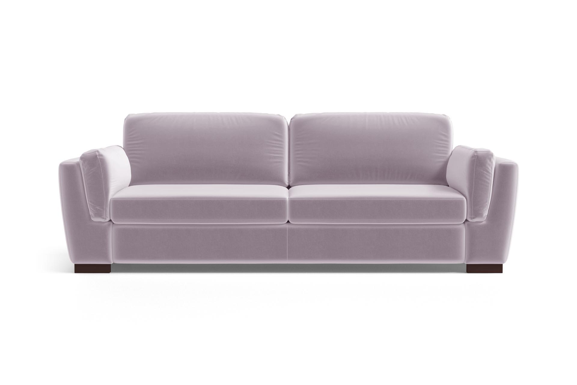 Canapé 3 places en velours lilas