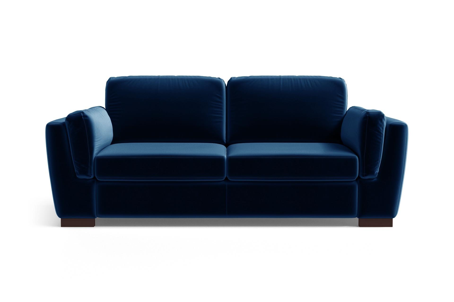 Canapé 2 places en velours bleu