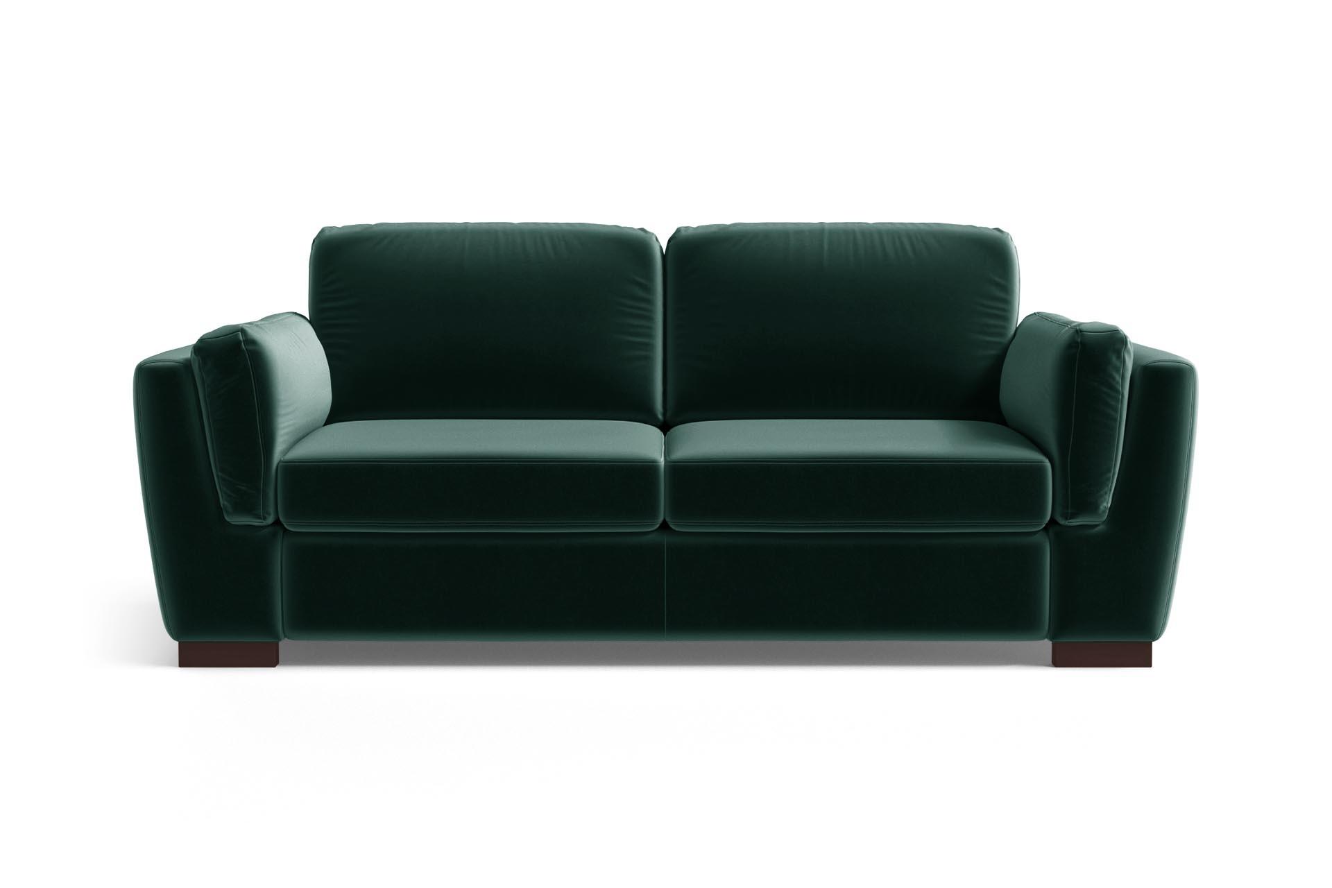 Canapé 2 places en velours vert bouteille