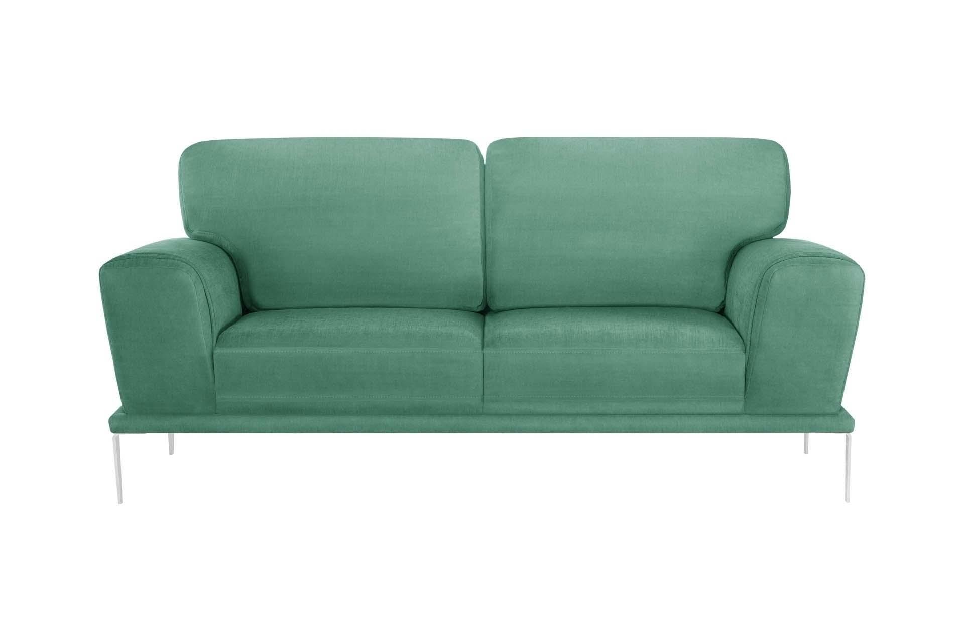 Canapé 2 places toucher coton menthe
