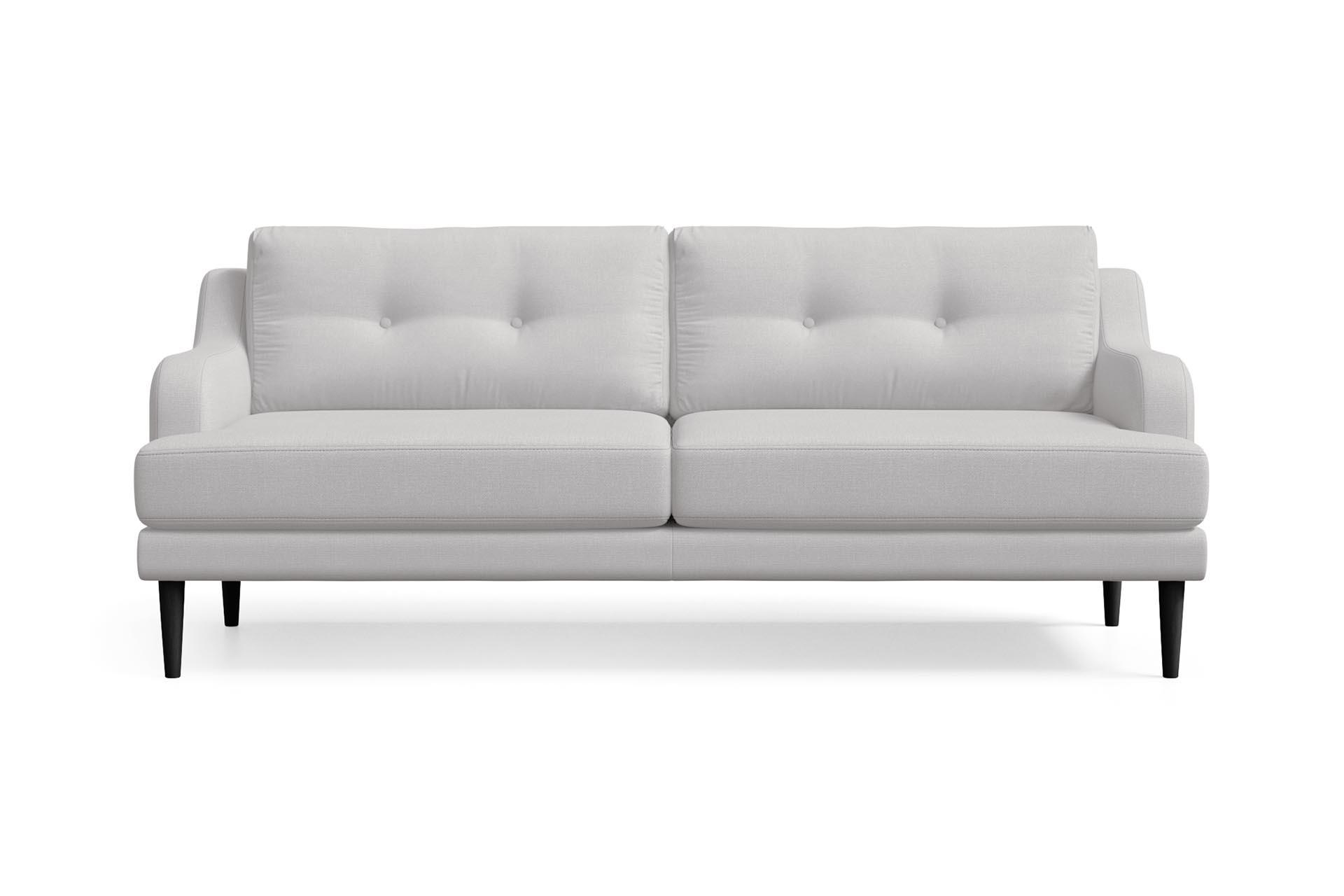 Canapé 3 places toucher lin gris clair