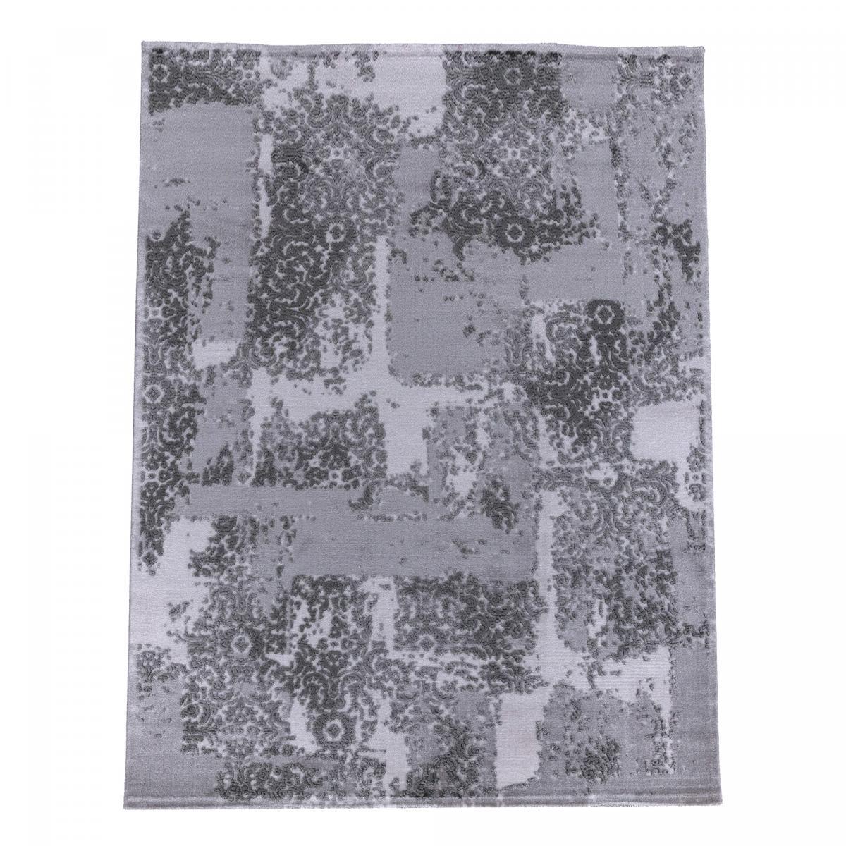Tapis design en acrylique gris 80x150