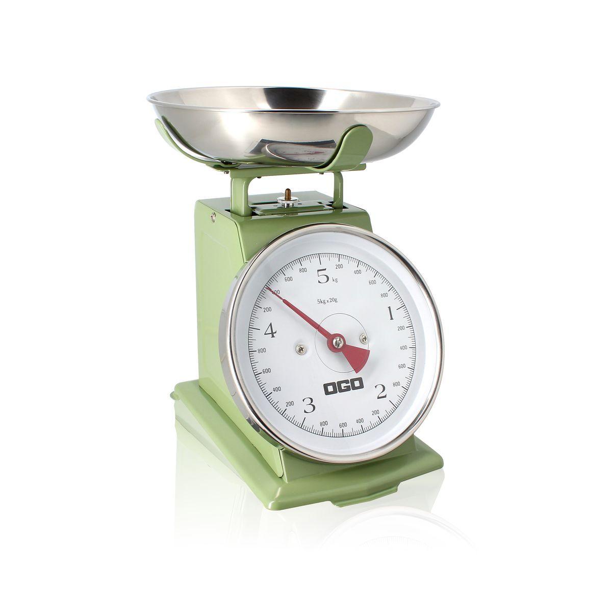 Balance de cuisine mécanique en inox 5kg/20g