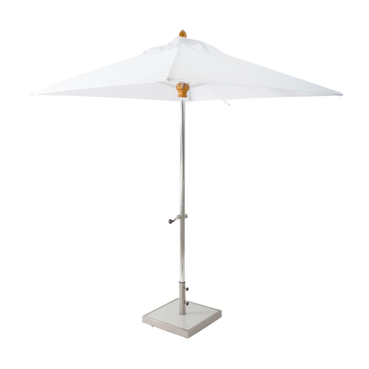 Parasol en aluminium et toile blanc H200