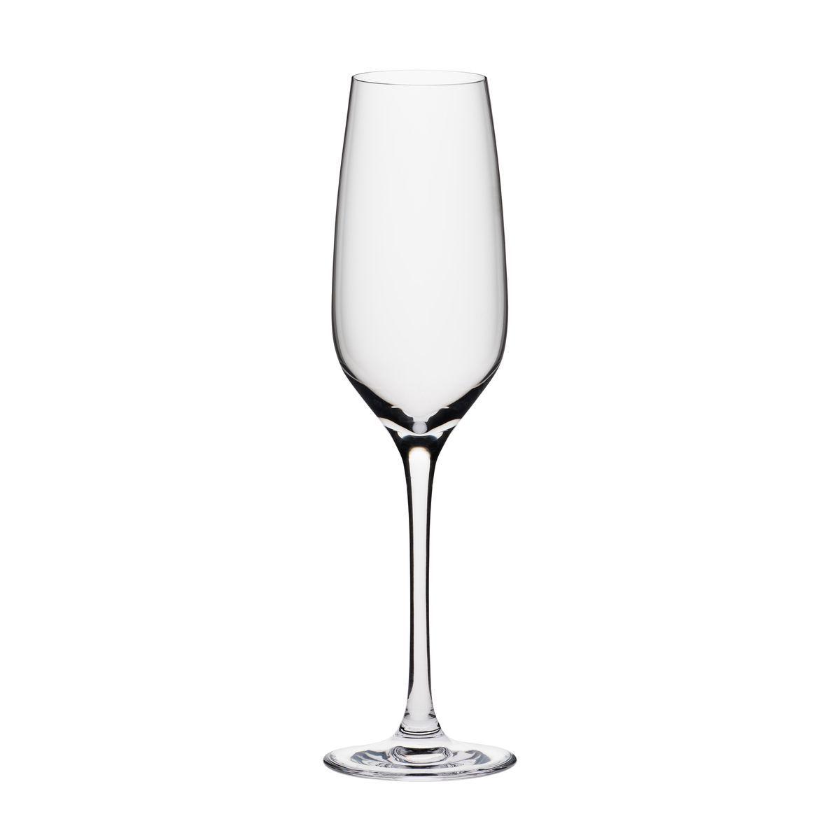 Boîte de 6 flûtes à champagne en cristallin 19 cl