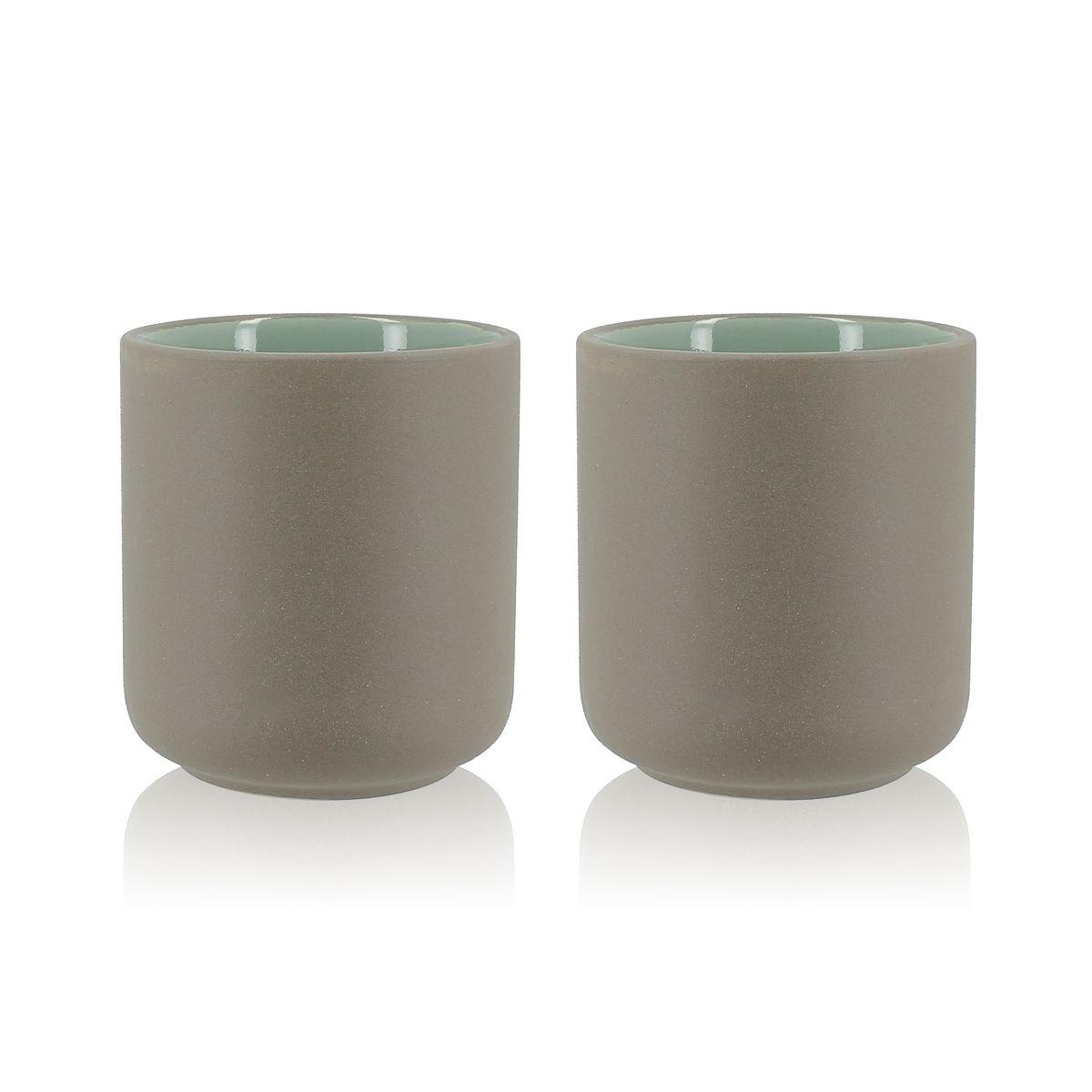 Set de 2 mugs en grès 27 cl