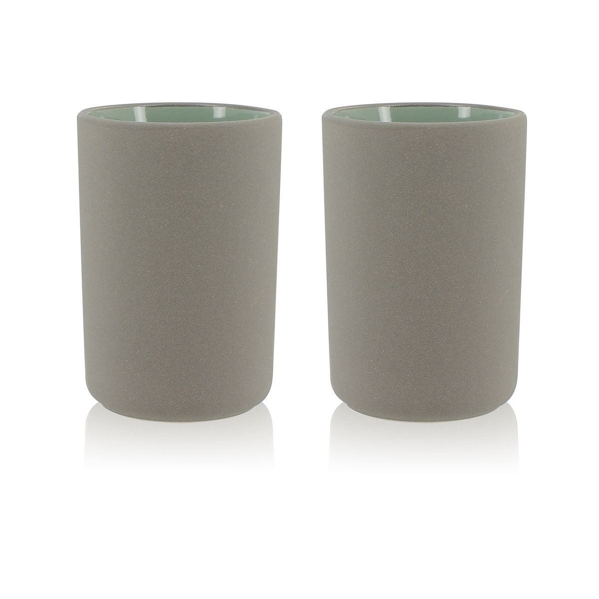 Set de 2 mugs en grès 20 cl