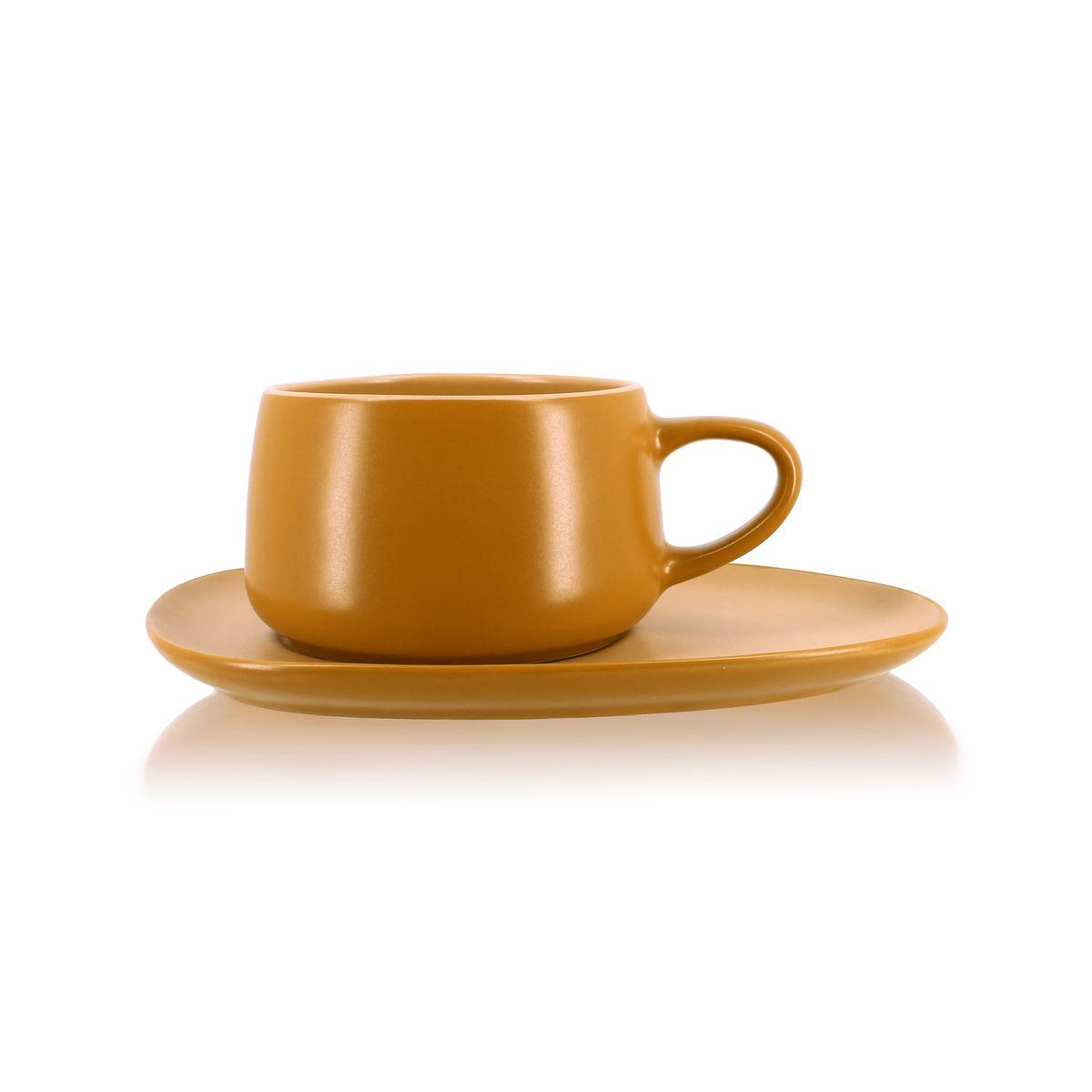 Tasse à thé avec soucoupe en grès 30 cl