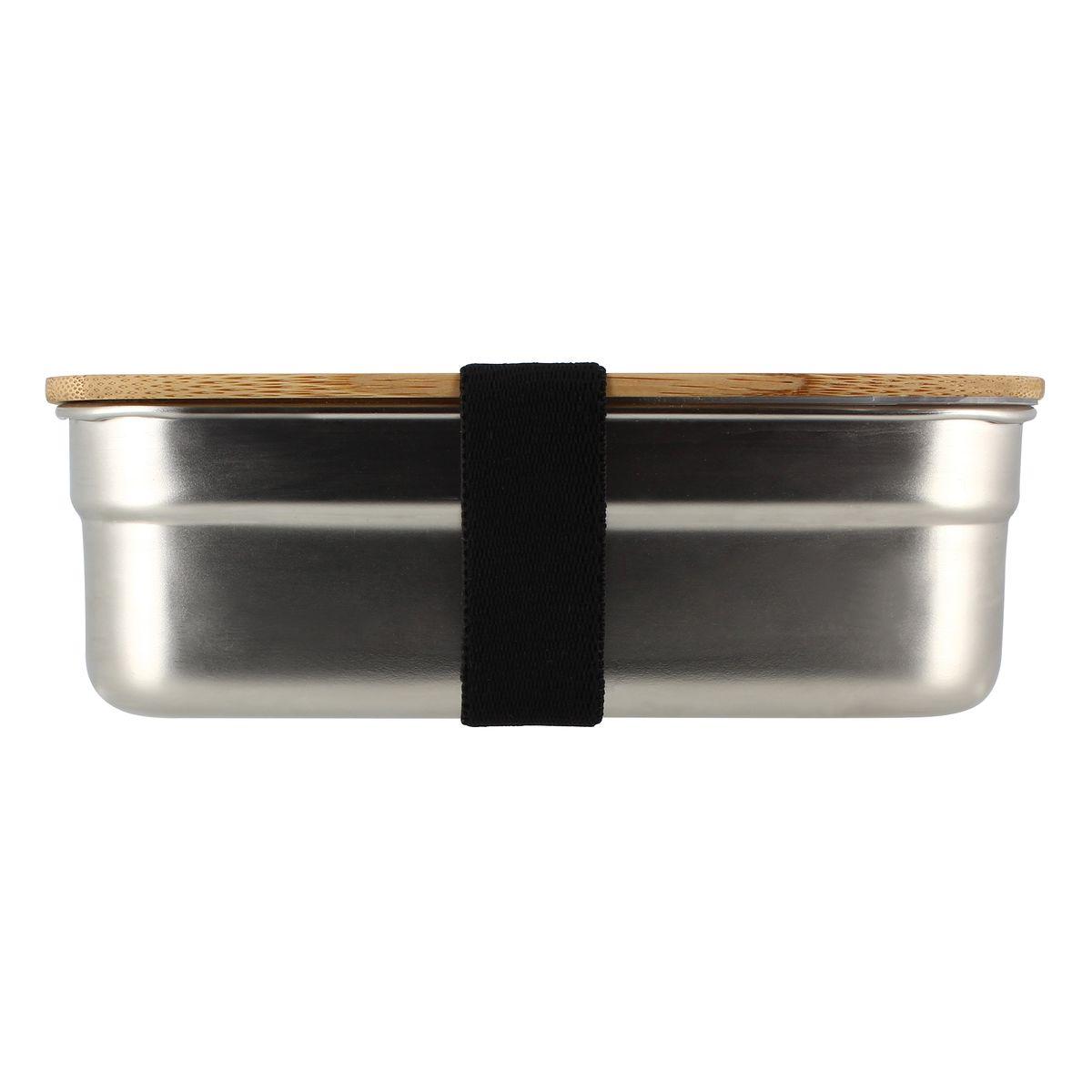 Boîte hermétique avec couvercle en inox et bambou 1,2 L