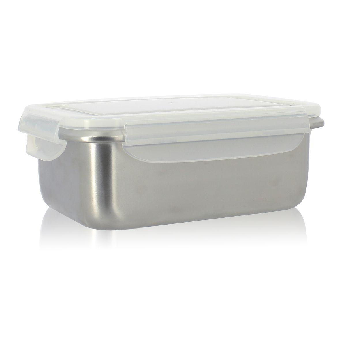 Boîte hermétique pour repas en acier inoxydable 1,8L