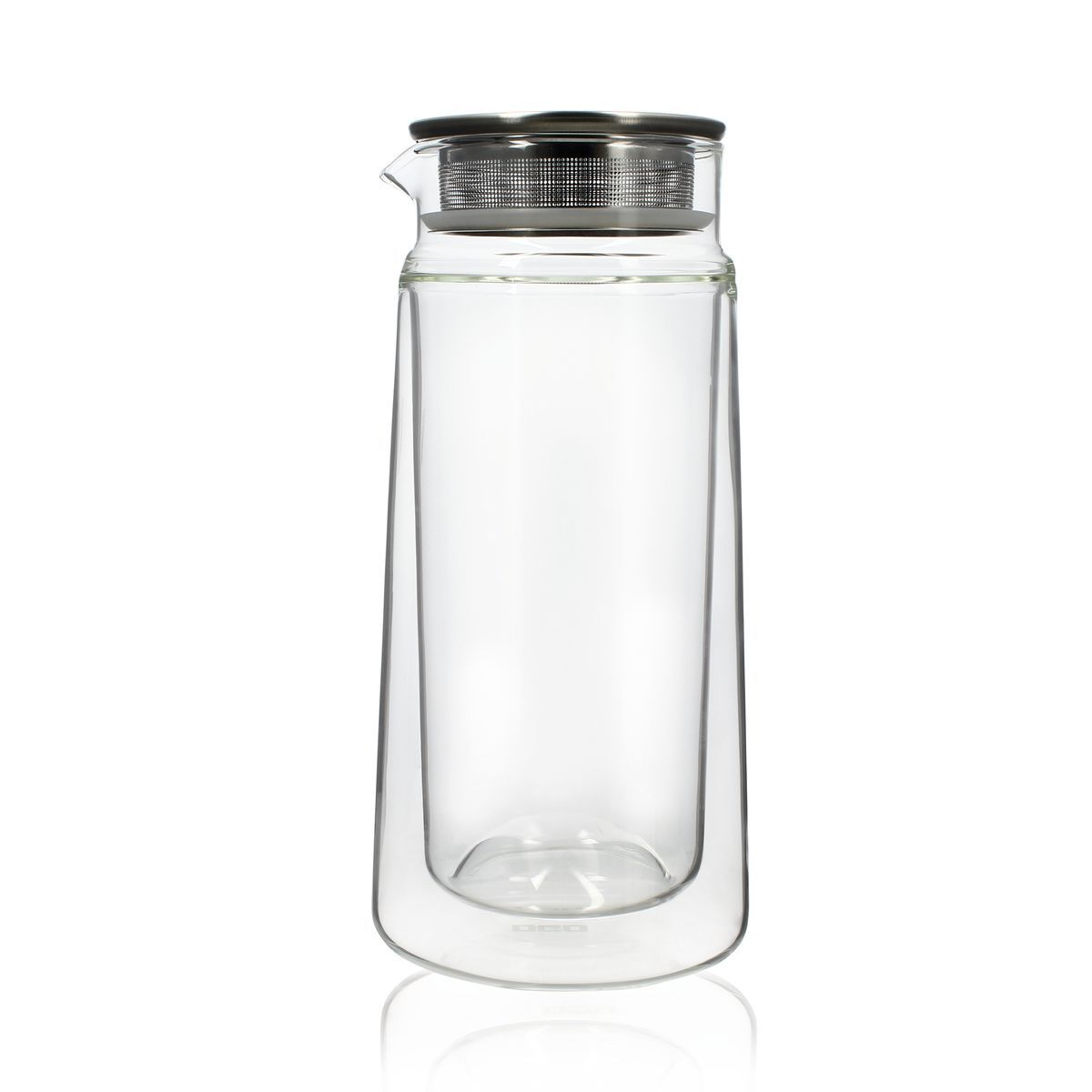 Carafe infuseur double paroi en verre 650 ml
