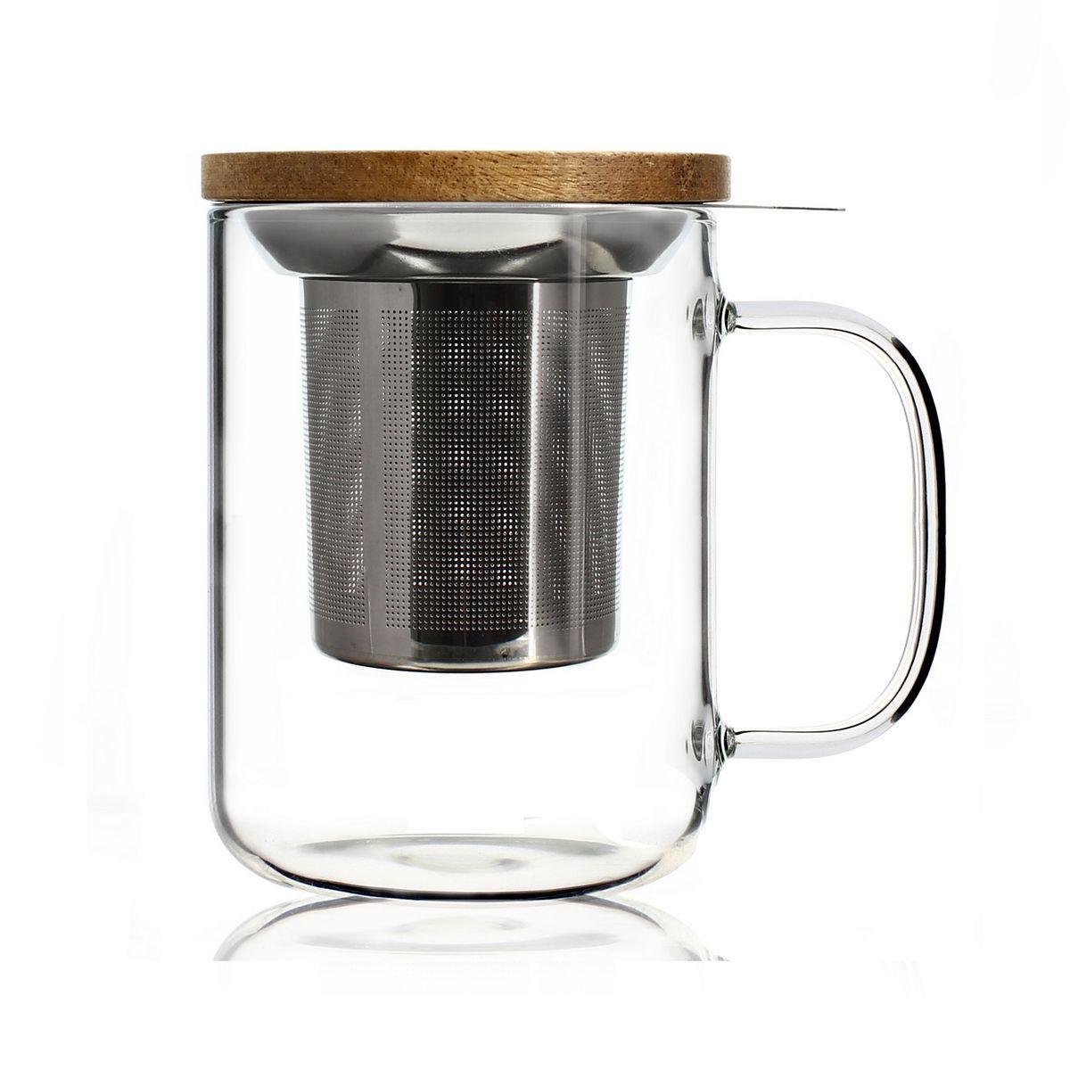 Tisanière en verre borosilicate 450 ml