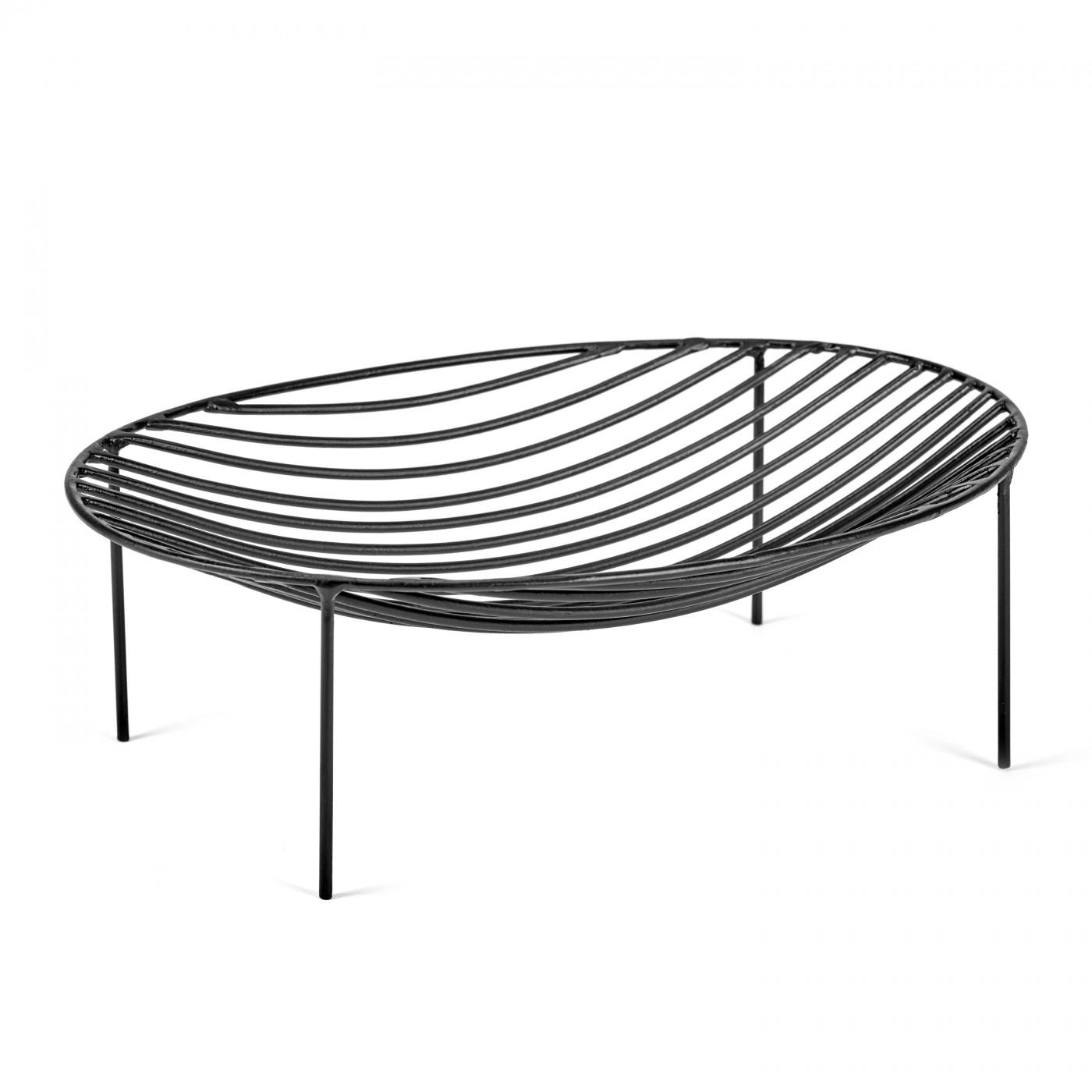 Corbeille noire 35x25 H11cm