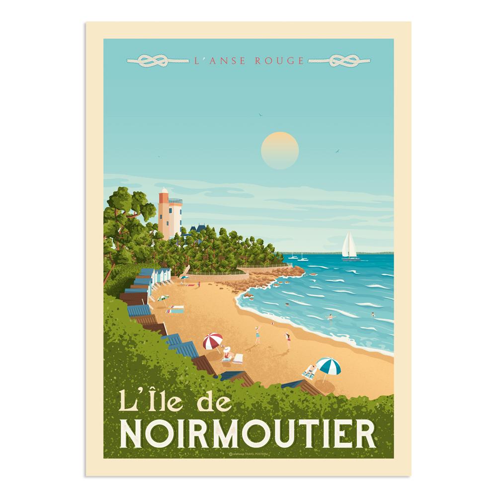 Affiche Noirmoutier 50x70 cm
