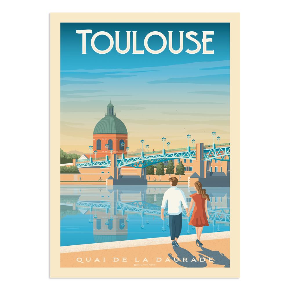 Affiche Toulouse  30x40 cm