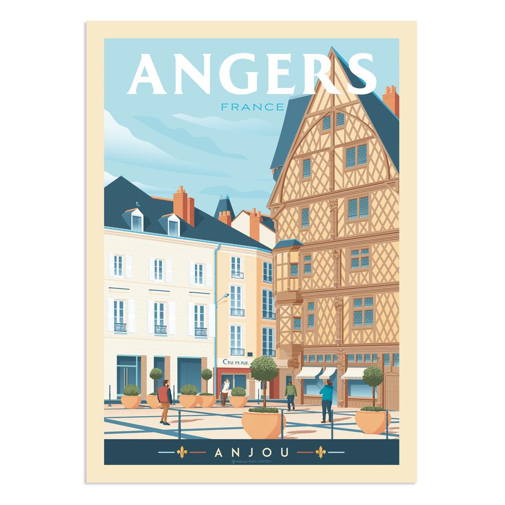Affiche Angers Maison d'Adam 30x40 cm