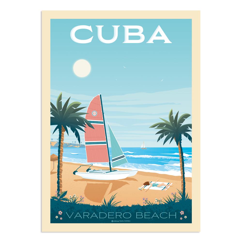 Affiche Cuba 50x70 cm