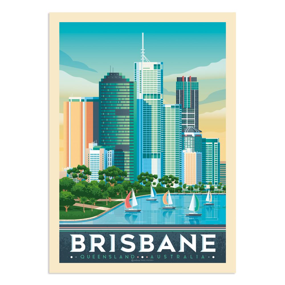 Affiche Brisbane  30x40 cm