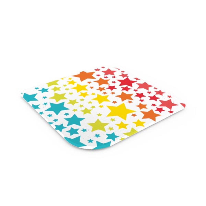 Dessous de plat en verre trempé star rainbow 16x16cm