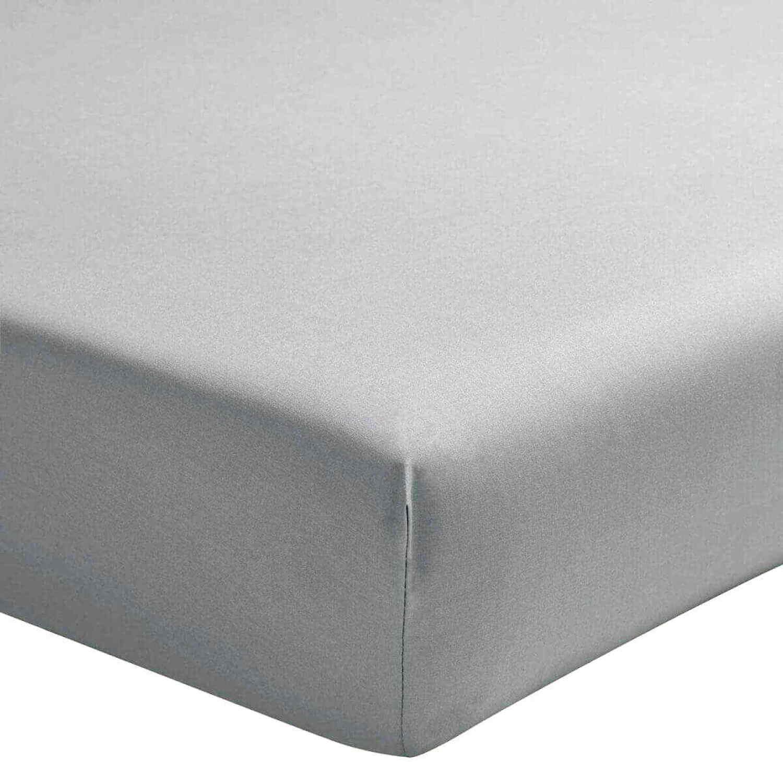 Drap Housse  coton gris 140x190 cm