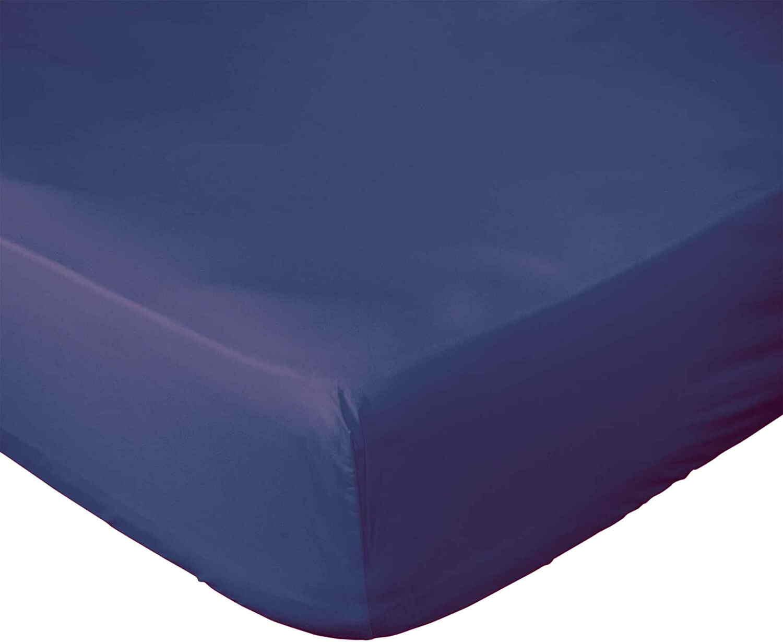 Drap Housse  coton bleu 180x200 cm