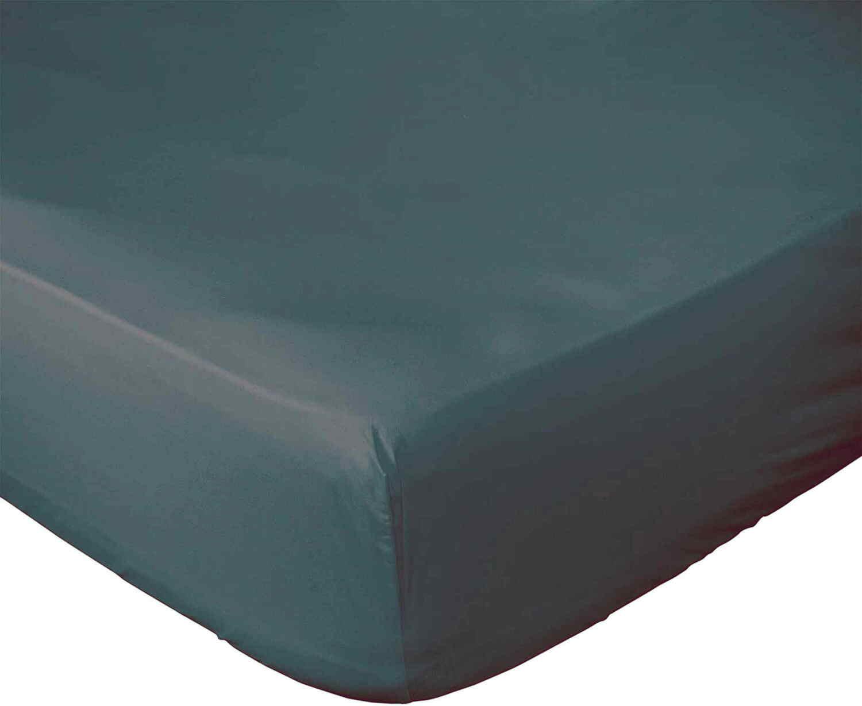 Drap Housse  coton bleu 140x190 cm