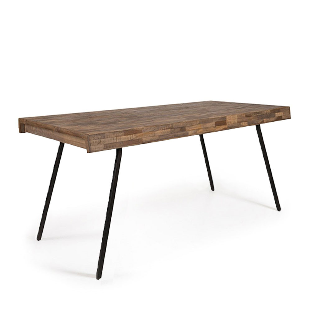 Table à manger en teck recyclé 160x78cm 160x78 cm