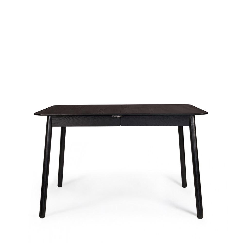 Table à manger extensible 120-162x80cm effet bois noir
