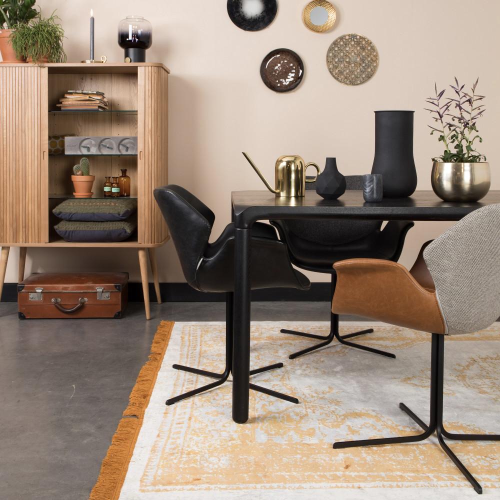 2 fauteuils de table design noir