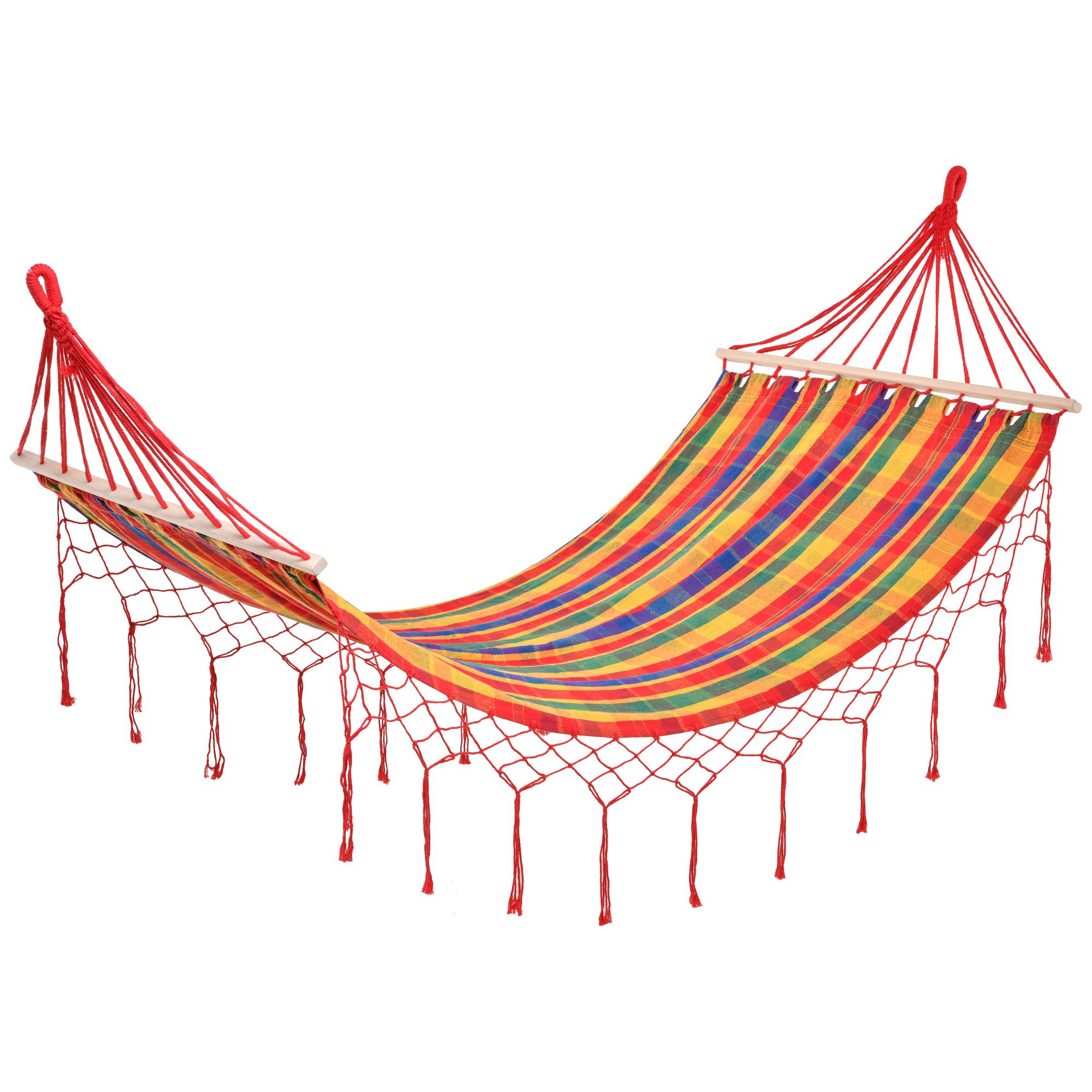 Hamac de voyage style hippie chic coton polyester multicolore