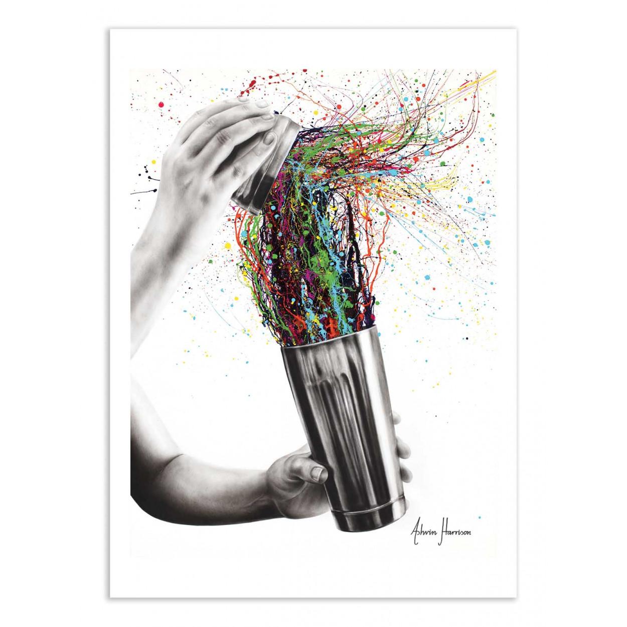 SHAKE IT - ASHVIN HARRISON - Affiche d'art 50 x 70 cm