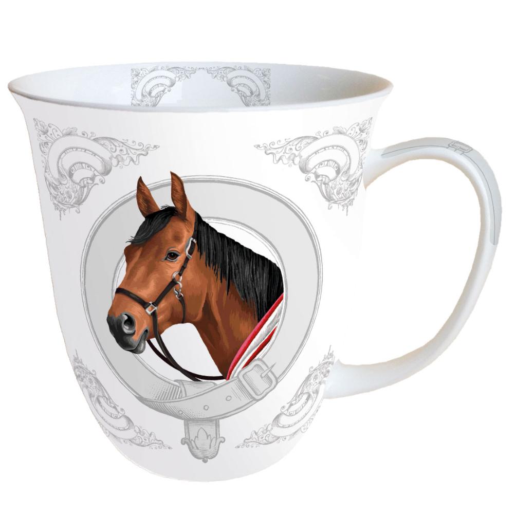 Tasse en porcelaine fine cheval