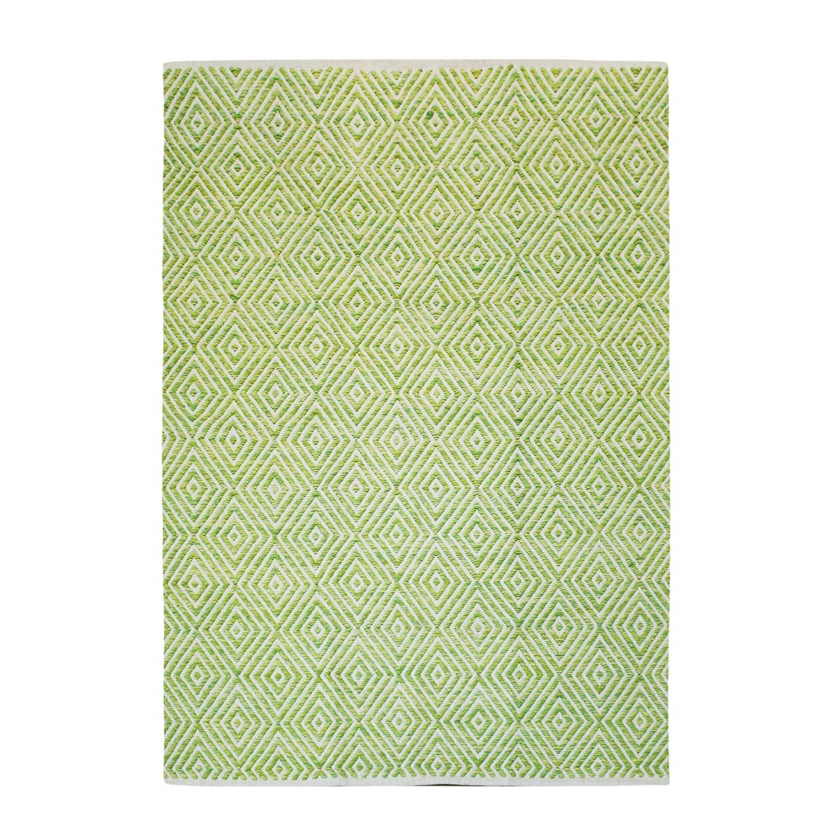 Tapis design en Coton Vert pistache 80x150 cm