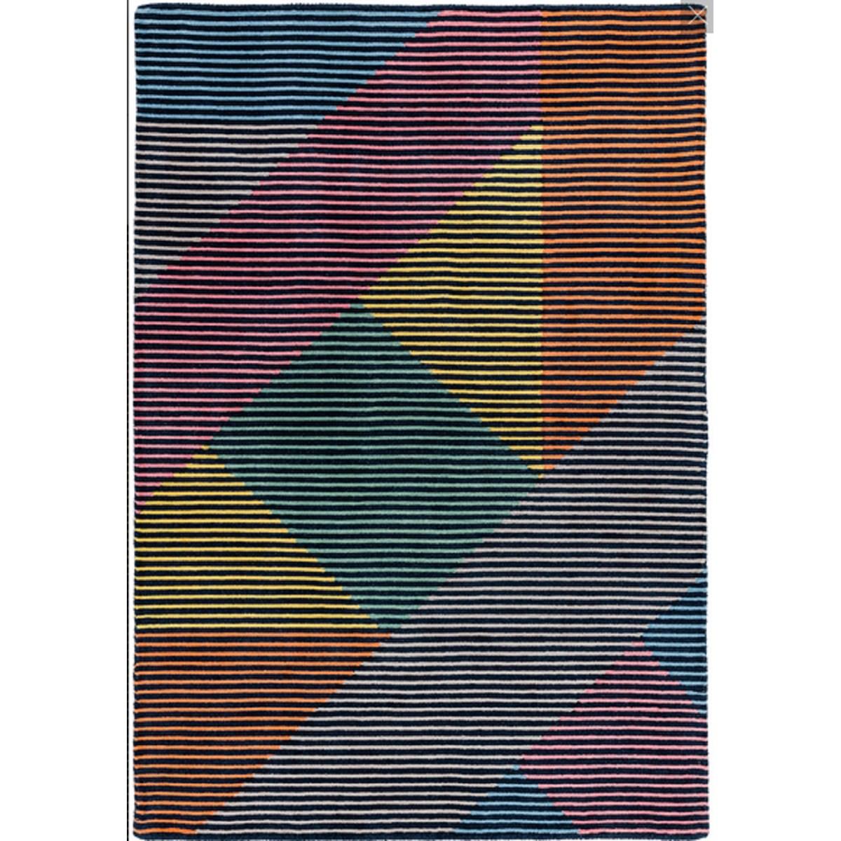 Tapis de salon moderne en Laine Bleu 120x170 cm