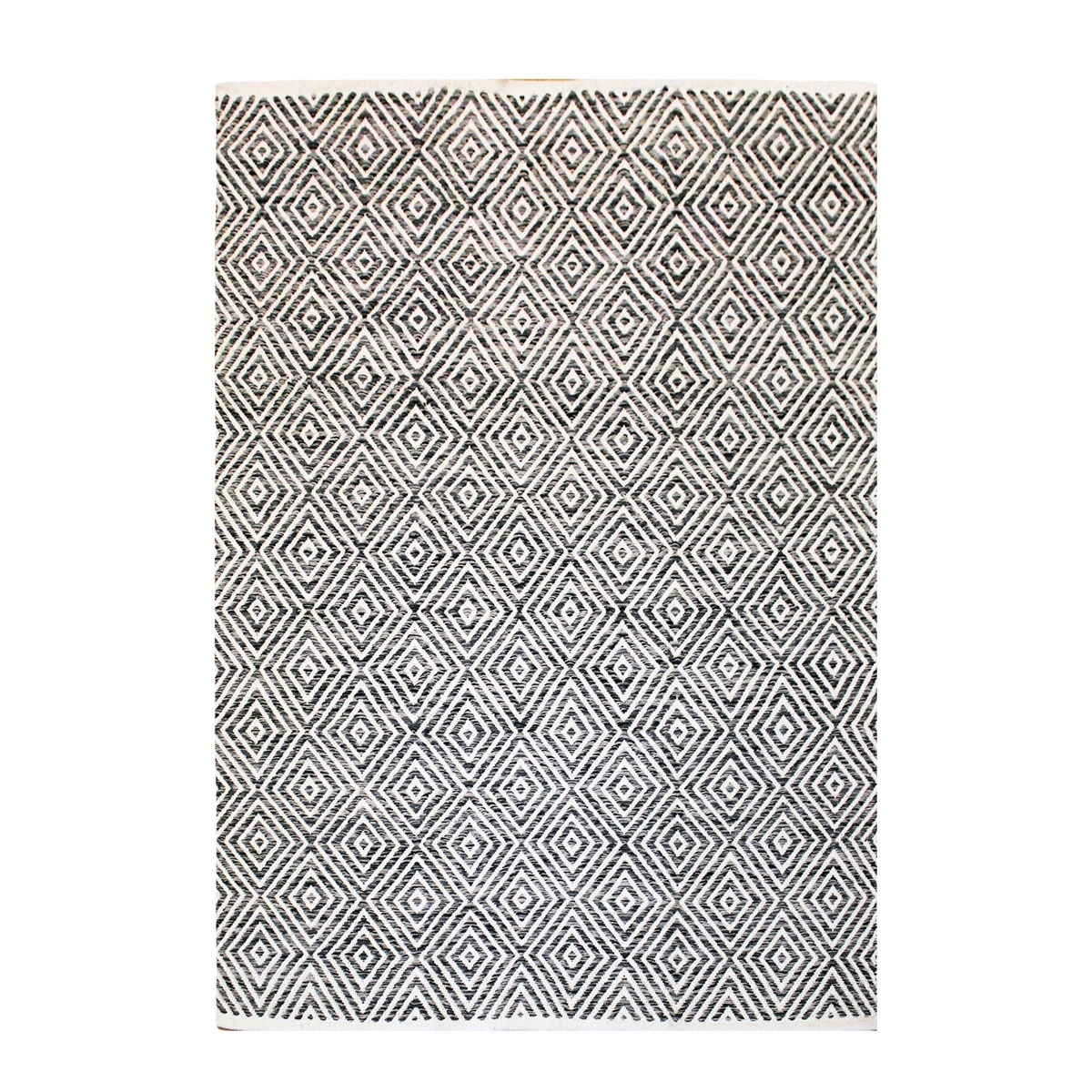 Tapis design en Coton Gris anthracite 80x150 cm