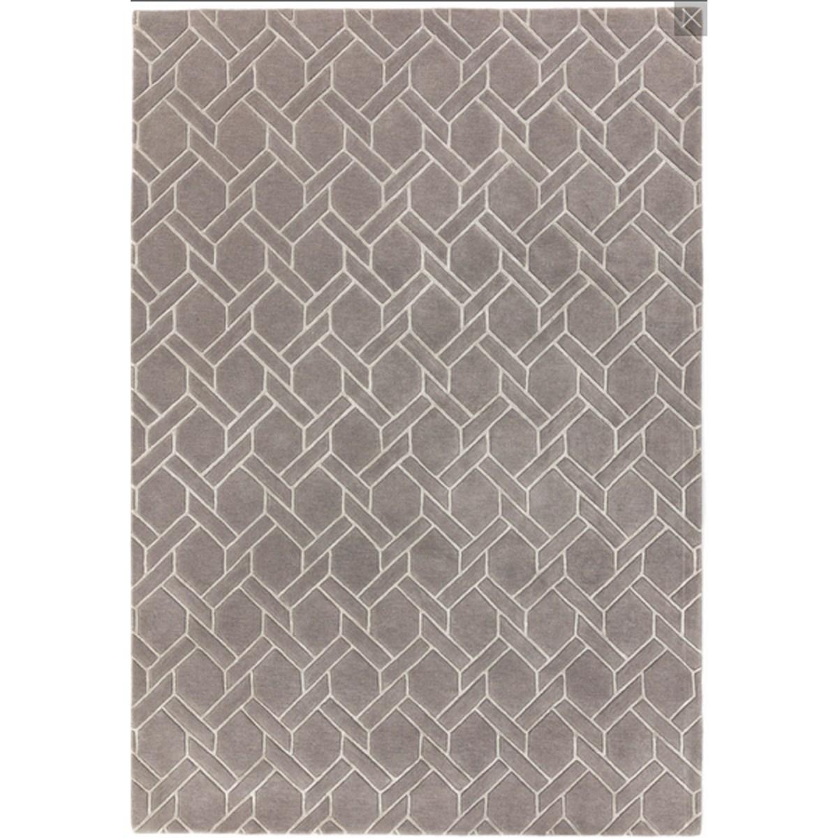 Tapis de salon moderne  en Laine Argent 200x300 cm
