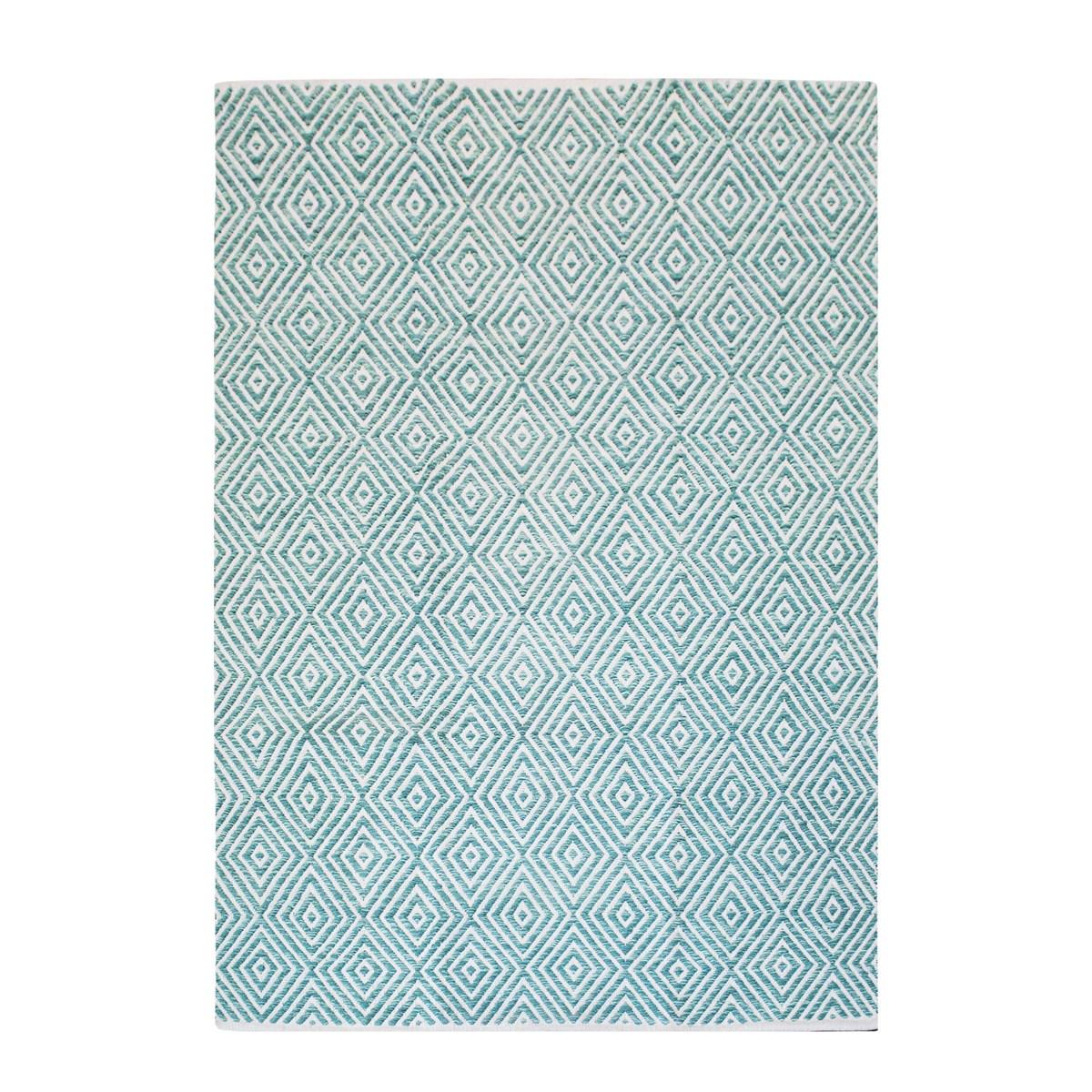 Tapis design en Coton Bleu ciel 120x170 cm