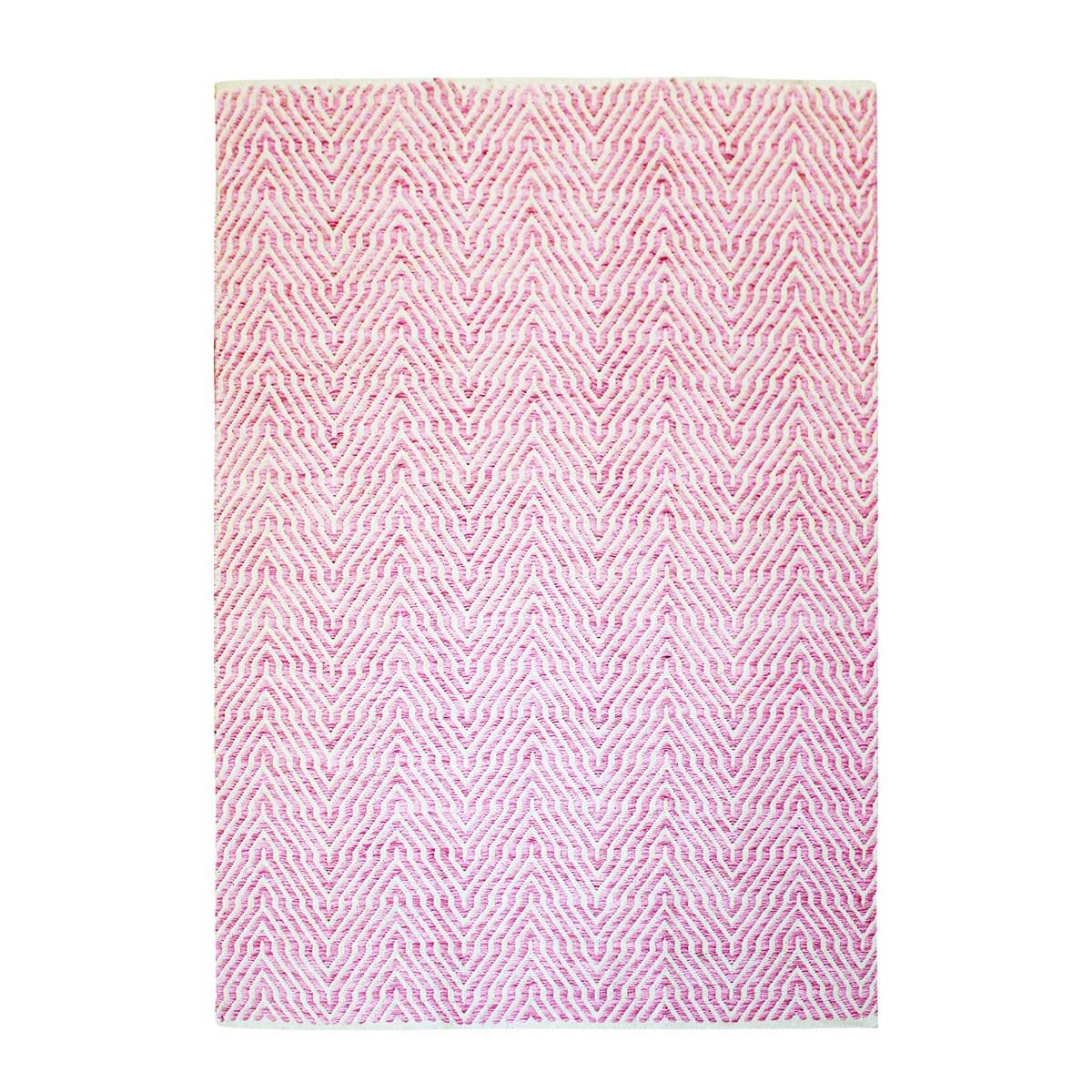 Tapis design en Coton Rose 80x150 cm
