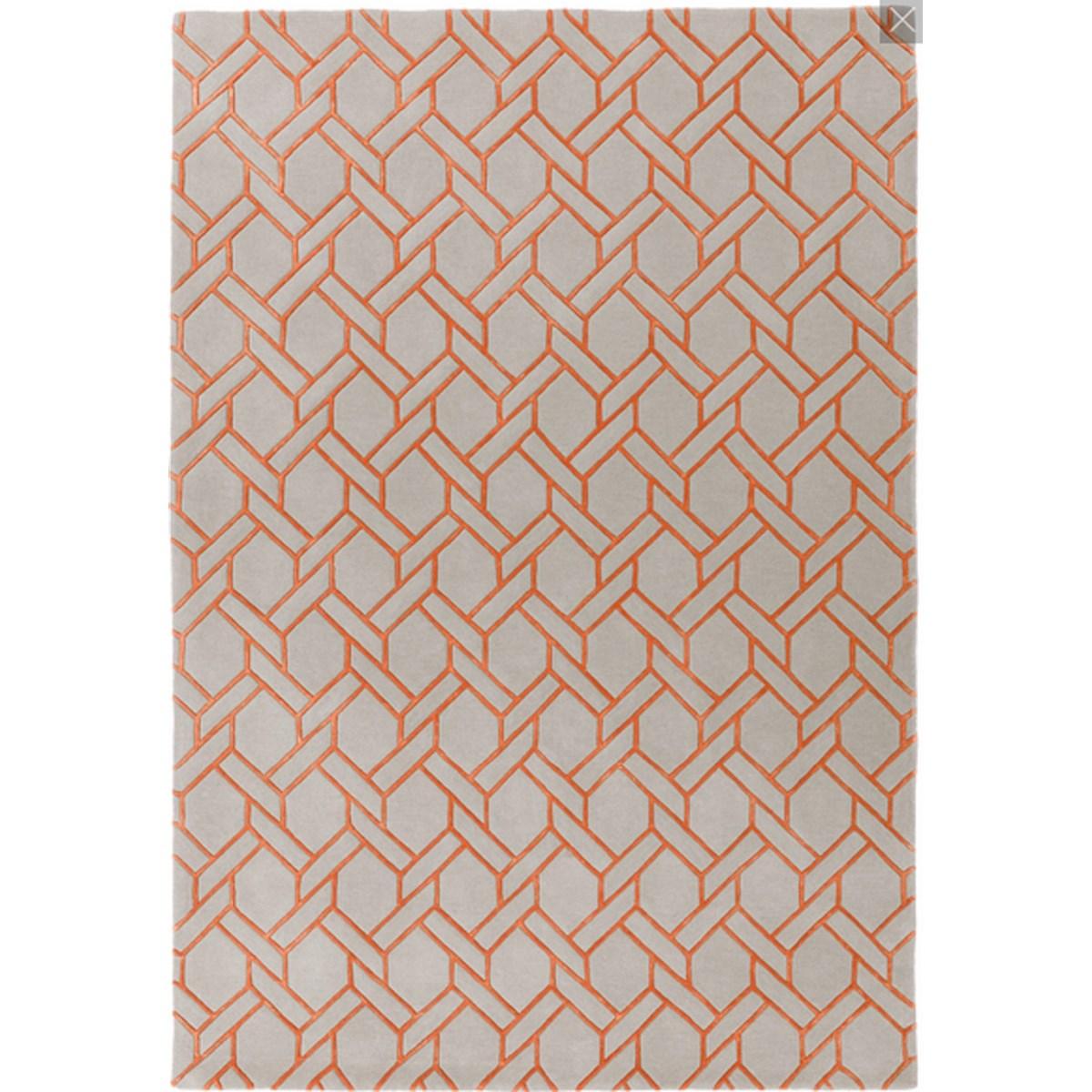 Tapis de salon moderne  en Laine Orange 120x170 cm