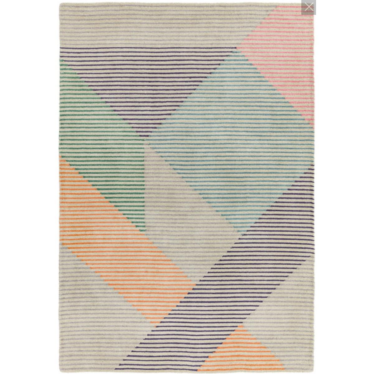 Tapis de salon moderne en Laine Multicolore 120x170 cm