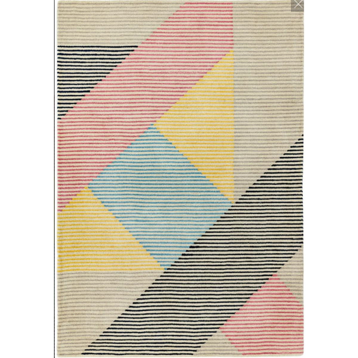 Tapis de salon moderne en Laine Rose 160x230 cm