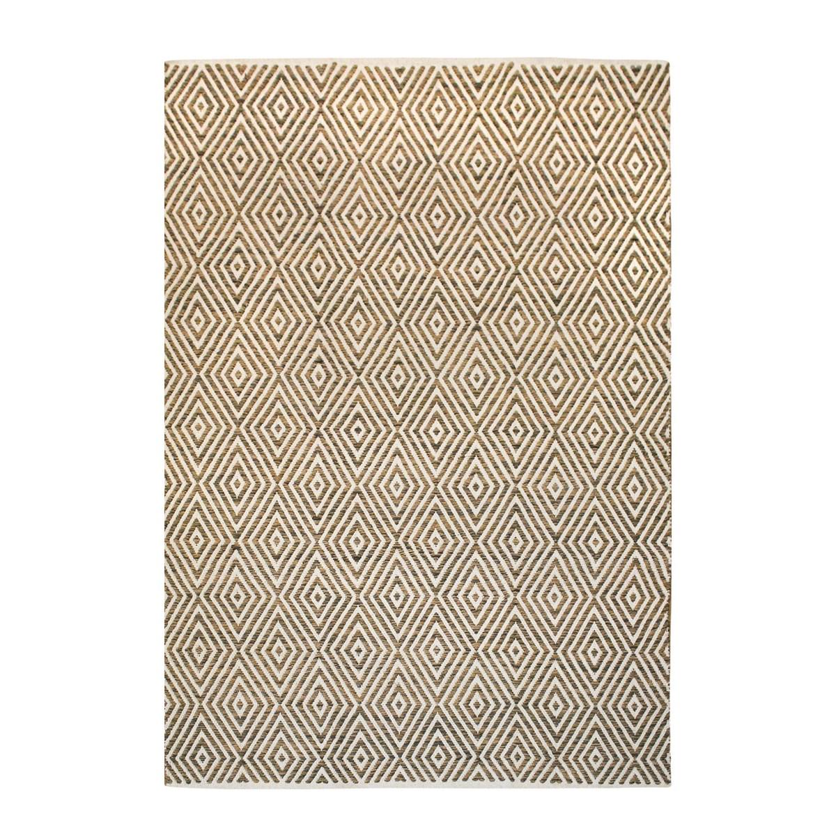 Tapis design en Coton Beige 120x170 cm
