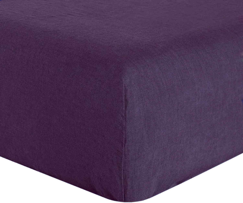 Drap Housse  lin violet 140x190 cm